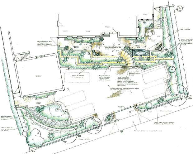 dublin garden design plan large coastal garden